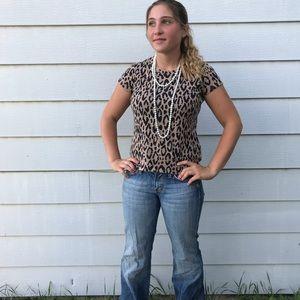 Liz Claiborne Cheetah Print Shirt